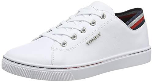 Tommy Hilfiger Glitter Detail City Sneaker, Scarpe da Ginnastica Basse Donna, Bianco (White Ybs), 40 EU