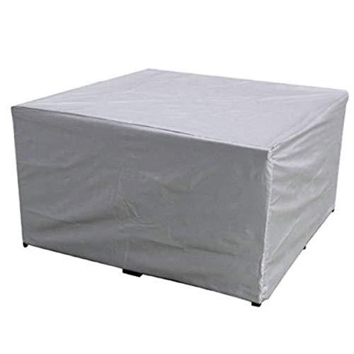 ZQIAN Funda Mesa Jardín 218x218x30cm Impermeable a Prueba de Viento Anti-UV Juego de Muebles Lluvia Sol Protección para Mesa Sillas Sofás Muebles de jardín, Plata