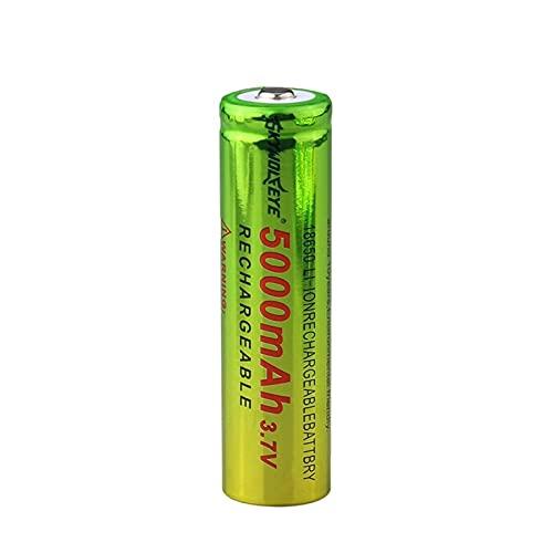 MNJKH BateríAs De ión De Litio De 3.7v 5000mah 18650, Batería Recargable para La Linterna 1pc