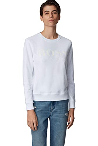 BOSS Damen Tastitch Sweatshirt aus French Terry mit Logo aus Print-Mix