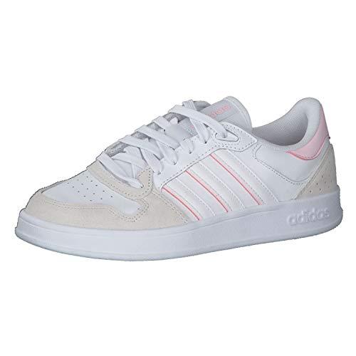 adidas BREAKNET Plus, Zapatillas de Tenis Mujer, FTWBLA/FTWBLA/ROSCLA, 43 1/3 EU