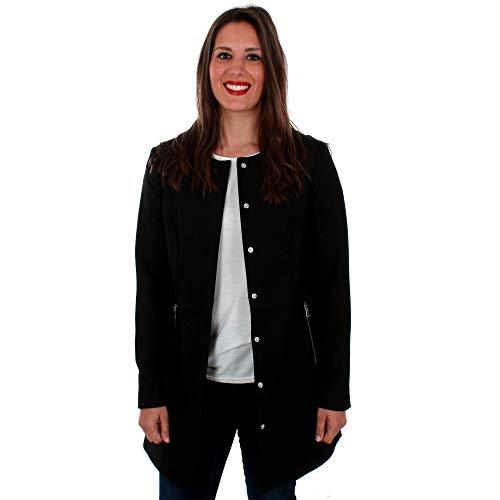 Vero Moda Cazadora Mujer Negro 10206999 VMTRENTO 3/4 Jacket Black