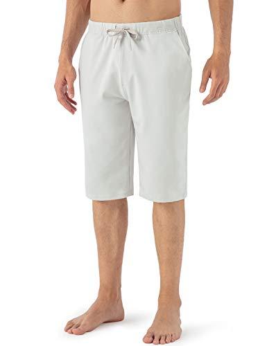 NAVISKIN Pantalón Corto de Entrenamiento de Yoga - Hombre, Pantalones Cortos de Atletismo para Hombre Shorts Deportivos de Correr Fitness Secado Rápido Ligero Súper Transpirables,Beige,XXL
