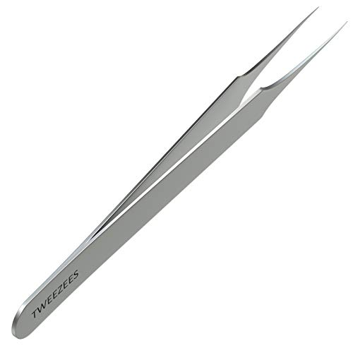 Ingrown Hair Tweezers | Pointed Tip | Precision Stainless Steel | Extra Sharp and Perfectly Aligned for Ingrown Hair Treatment & Splinter Removal For Men and Women | By Tweezees
