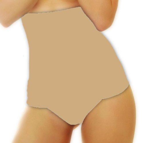 r-dessous 2 Stück Figurformende Bauchweg String Tanga hoch Mieder Slip Hose Damen Shapewear Shaper Unterwäsche Groesse: S/M