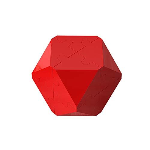 Juego de empalme de bloques, bloques de rompecabezas de cubo suave rompecabezas 3D para niños, cubo mágico, juegos de cerebro, cubos de entrenamiento de fácil giro para niños y adultos
