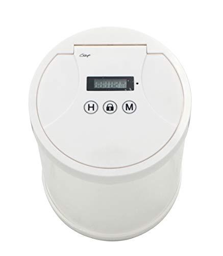 Mehrzweck-Aufbewahrungsbox mit Zeitschaltuhr, zur Vermeidung und Kontrolle von Handysucht, verhindert übermäßiges Rauchen und kontrolliert die Einnahme von Snacks. M weiß