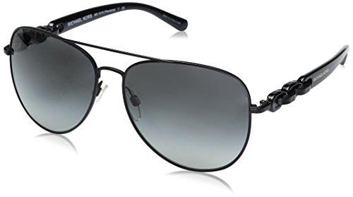 Michael Kors Pandora Gafas de sol, Matte Black 113111, 58 Unisex-Adulto