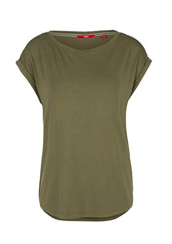 s.Oliver Damen T-Shirt, 7810 Green, 36