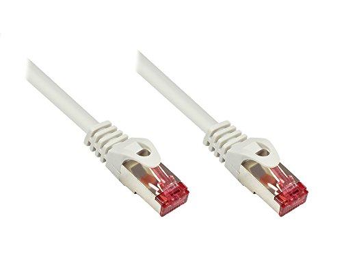 Good Connections Cat. 6 Ethernet LAN Patchkabel mit Rastnasenschutz RNS, S/FTP, PiMF, PVC, 250Mhz, Gigabit-fähig (10/100/1000-Base-T Ethernet Netzwerke), für Patchfelder, Patchpanels, Switch, Router, Modems, grau, 0,15m
