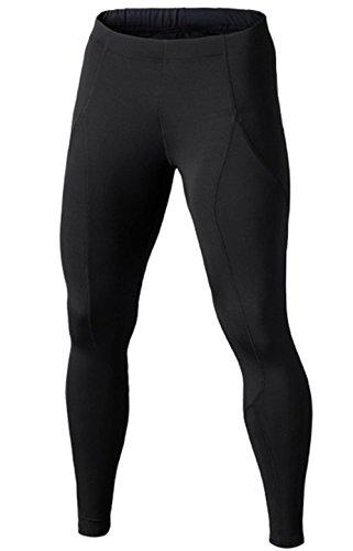 Compression Pants - Men's Tights Base Layer Leggings, Best Running/Workout, Black, UK L_Tag XL