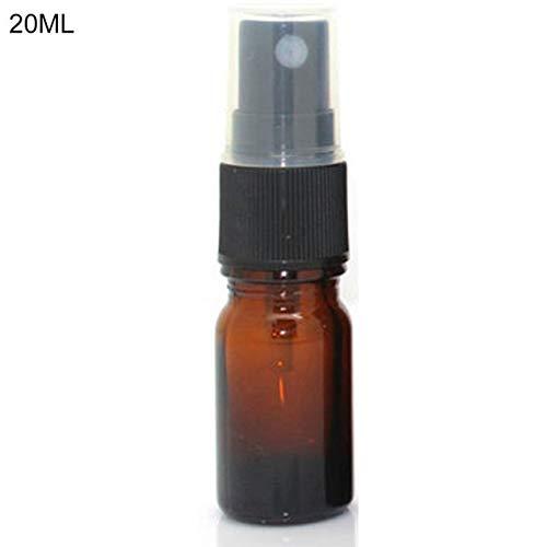 Mini 5-100ml Spray Bottle, Beauty Empty Amber Glass Bottles, Refillable Travel Bottle For Essential Oil Mist Spray Container 20ml