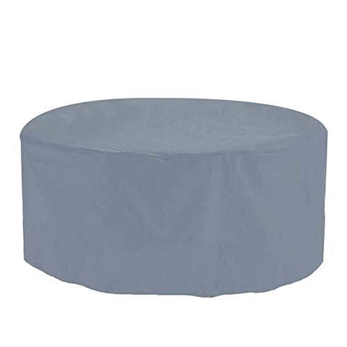 WZDD Cubierta para Muebles De Jardin 163X58cm, Funda Redonda para Mesa De Jardín, 420D Paño Oxford Funda Protectora Conjuntos De Muebles, Resistente Al Polvo Anti-UV