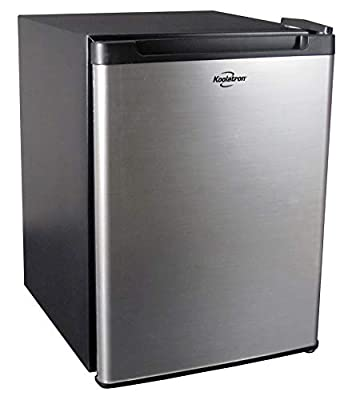 Koolatron KCR45B 1.76 Cubic Foot (50L) AC/DC Electric Heat Pipe Semi-Truck Stainless Steel Thermoelectric Compact Fridge