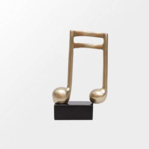 DAIFUQIANG Trofeo De Música Bastón Símbolo De Música Sala De Piano Estatua Manualidades Decoración del Hogar Accesorios Regalos De Cumpleaños