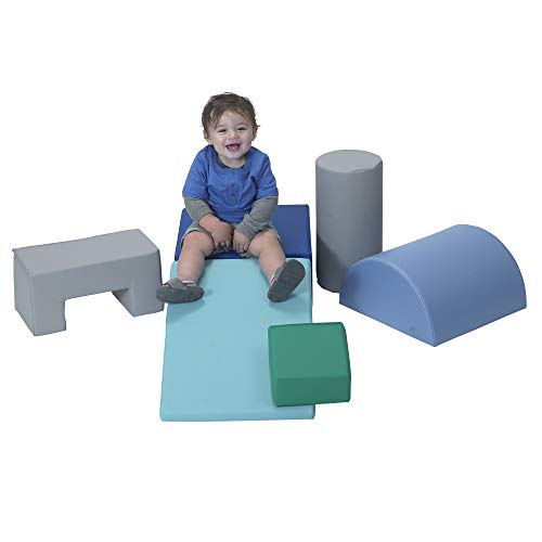 Children's Factory Climb & Play 6 Piece Set for Toddlers, Baby Climbing Toys, Indoor Play Equipment for Homeschool/Classroom/Playroom, Contemporary