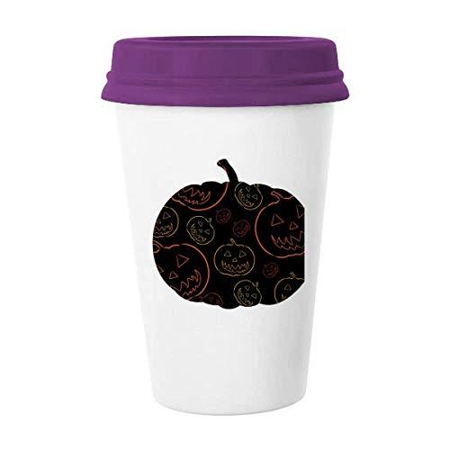 Calabaza Azulejo Patrón Halloween Taza de café cerámica taza de cristal cerámica taza regalo