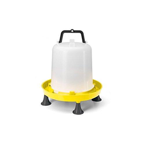 Zootec Abbeveratoio a sifone in plastica con manico e piedini. Capacità 10 litri. Ideale per galline, pulcini, anatre e avicoli simili. Predisposto per essere appesa nel pollaio