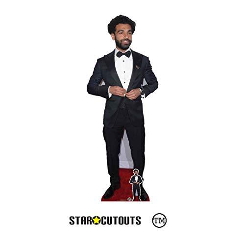 STAR CUTOUTS CS808 Mohamed Salah Fußballer in Lebensgröße, inklusive Mini-Pappaufsteller, Höhe 177 cm, Mehrfarbig