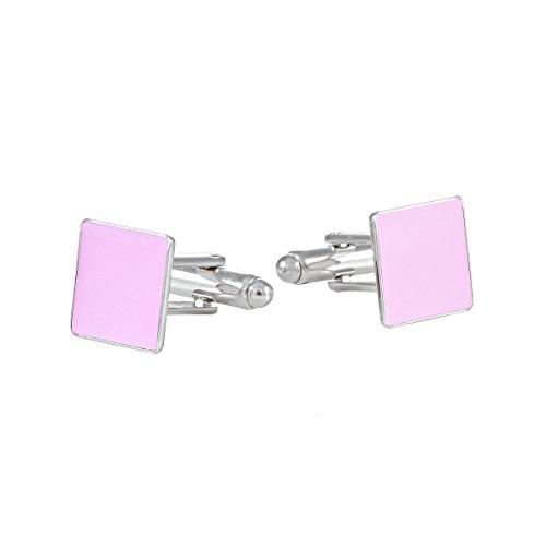 ba bijou-art Gemelos Rosa Pink Esmalte Rodio 12 x 12 mm Camisas...
