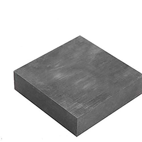 Salmue Placa de Grafito, 99,9% de pureza Bloque de lingotes de Grafito, Gran pureza/Densidad/Tenacidad Placa de Bloque de Grafito en Blanco EDM Placa de Grafito Superficie de fresado