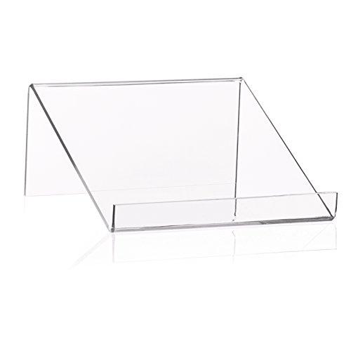 Boekenstaander/boekensteun als goederen drager en boekenplank van origineel PLEXIGLAS® (100x100x45mm)
