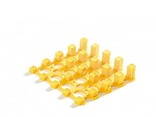 ブロックビルド スリップストップ フラット正方形スロープタイル用(イエロー)【組立て式段差解消スロープ】