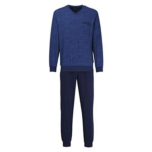 Bugatti Herren Pyjama blau Bedruckt 1er Pack 58