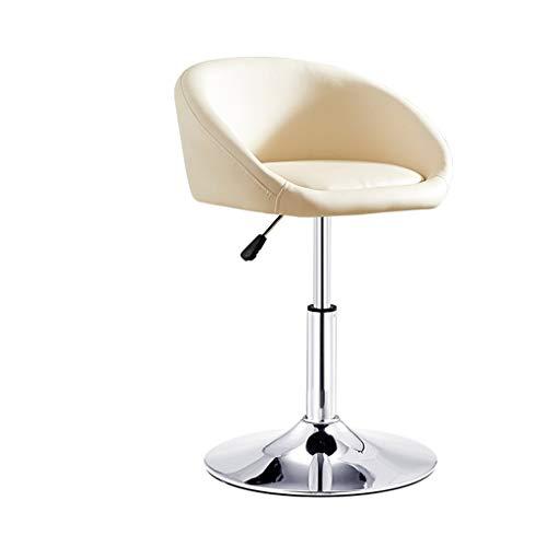 YUiiTI Silla de Belleza, Ascensor Ajustable PU Banco Sillón de manicura Tienda barbería del salón de Belleza Trabajo de Estudio Asiento Antideslizante (Color : B, Size : 40-53CM)
