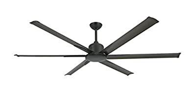 """TroposAir Titan II Oil Rubbed Bronze 72"""" Large Industrial Ceiling Fan with DC-Motor, Extruded Aluminum Blades and Remote"""
