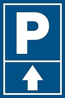 3mm Alu Schild Pfeil oben 20x30cm Parkschild Parkplatz (ohne Bohrung)