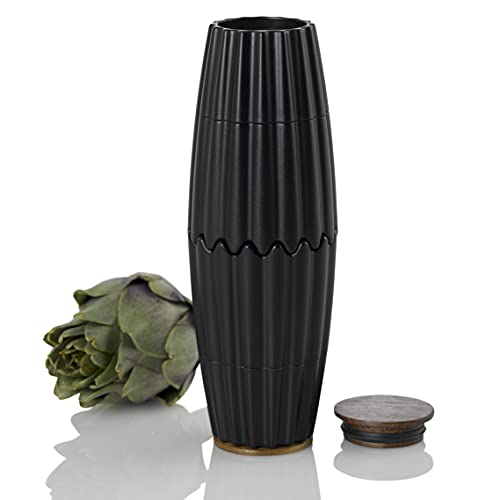 AdHoc MP905 Magnetische Doppelmühle oder 2x kleine Einzelmühle MagTwo, für Pfeffer und Salz, Keramik Mahlwerke, Kunststoff/Bambus
