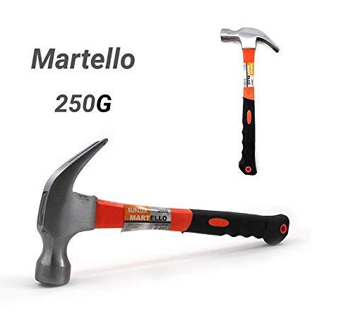 takestop Martello in Acciaio Curvo con Manico Gomma Tira Chiodi Falegname da Carpentiere Strumento LAVORI Fai da Te