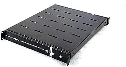 Rising Sliding Rack Server Shelf 1U 19'' 4 Post Rack Mount-Adjustable 15''-24''