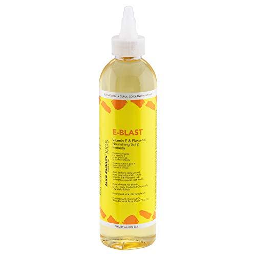 Tía Jackies De niña E-Blast Vitamina E & Semilla de linaza Revitalizante Cuero cabelludo Remedio 236,6 ml