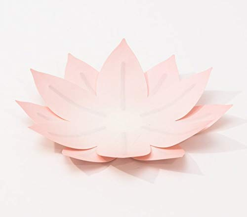Flexible Hanji-Papierschale Wasserlilie Blassrosa – Ablage / Servierschale aus traditionellem Hanji-Papier: Leicht, formbar und wasserabweisend