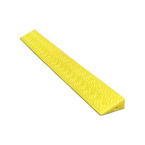Outdoor 95cm Lange Plastic Slope Pad, Fiets Kinderen Skateboard Uphill Pad Triangle Safety Non-slip mat, Fit for Speeltuinen, Deuren Curb Ramps (Color : Yellow, Size : 95 * 8.5 * 4CM)