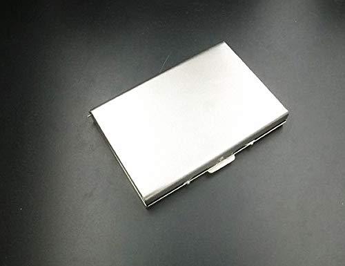 Custodia per schede di memoria in acciaio inossidabile per schede SD e Micro SD con etichette, protezione per schede portatile per 8 schede SD e 8 schede Micro SD
