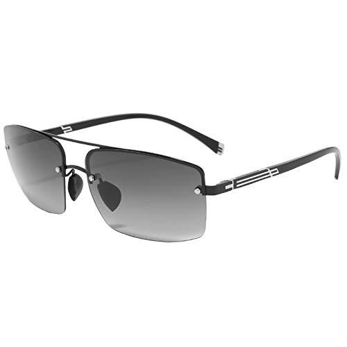 HDSJJD Gafas De Sol, Color Inteligente De Los Hombres Que Cambian Las Gafas De Sol Polarizadas, con La Función Anti-Ultravioleta con AV400, Adecuado para Conducir, Pescar, Etc,A