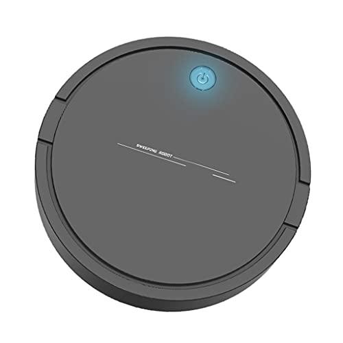 MERIGLARE Robot Aspirador automático 2 en 1, colector de Polvo Inteligente de bajo Ruido, Limpieza de alfombras, Limpieza para el hogar y la Oficina - Caja de Mano Balck