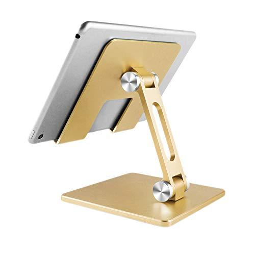 Ousyaah Soporte de Tableta Plegable de ángulo de Escritorio, Multiángulo Soporte Tablet Ajustable, Soporte teléfono para Pad 2020 Pro, Pad mini 2 3 4, Pad Air, Air 2, Samsung Tab, Otras Tablets