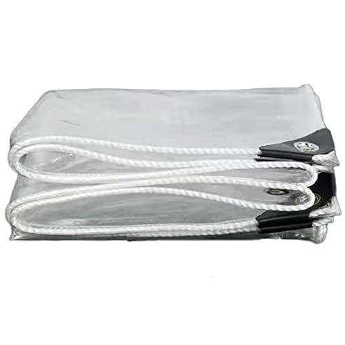 Lona Transparente Impermeable Exterior,0.35mm Hoja de Lona Impermeable,Lona Plástico Grueso para Exteriores,Al Agua A Prueba de Polvo Lona,para Refugio Muebles Jardín,365g/? (1.2x3m/3.9x9.8ft)
