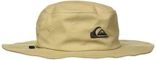 Quiksilver Men's Bushmaster Sun Protection Floppy Bucket Hat, Khaki3, Large/X - Large
