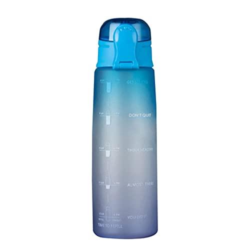 Botella de Agua de 900 ml Tapa de Rebote Botella de Agua con Escala y Boquilla de succión Azul a púrpura 10 * 3'