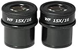 Mounting Size 30mm Pair High Eyepoint Field of View 16mm BoliOptics WF 15X Widefield Focusable Microscope Eyepieces SZ09013421 Adjustable Diopter