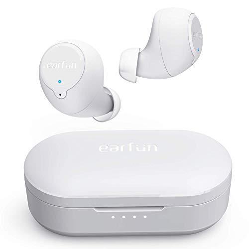 【2020最新進化版】 EarFun Free Bluetooth 5.0 ワイヤレスイヤホン 最新のTWS技術 30時間再生 IPX7完全防...