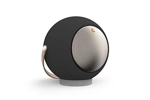 UB+ Eupho E2 Bluetooth-Lautsprecher, Ultraleicht, bis zu 30 Stunden Wiedergabe, TWS (Paar Zwei), HD-Sound, 95bd Lautstärke, klares Audio und tiefes Bass, kurzes Beinstativ – matt schwarz