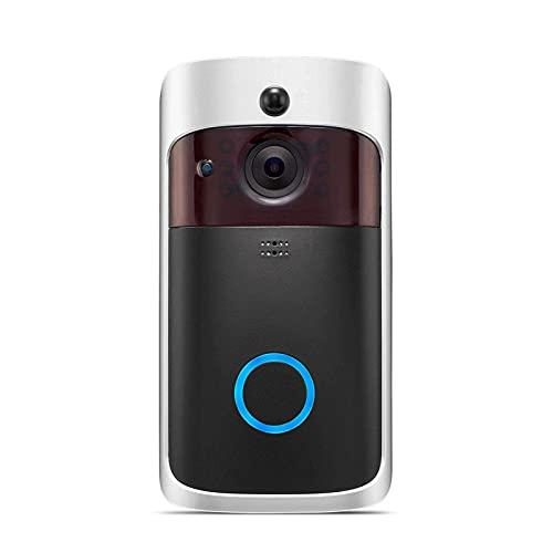 Inalámbrico Wi-Fi vídeo timbre de la puerta con 1080P nocturna de la cámara de seguridad Visión de vigilancia, sistema de vigilancia de dos vías de conversación en tiempo real de vídeo, detección de m