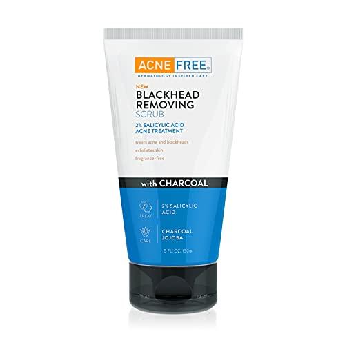 Acne Free Blackhead Removing Exfoliating Face Scrub with 2% Salicylic...