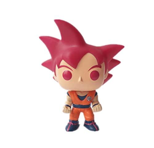 LUGJ Funko Pop Dragon Ball Kawaii Q Versión Nendoroid Anime Figura Red Hair Goku Figuras De Acción De Vinilo Pop En Caja Juguete 10Cm, Colección De Decoración De Juguetes para Niños